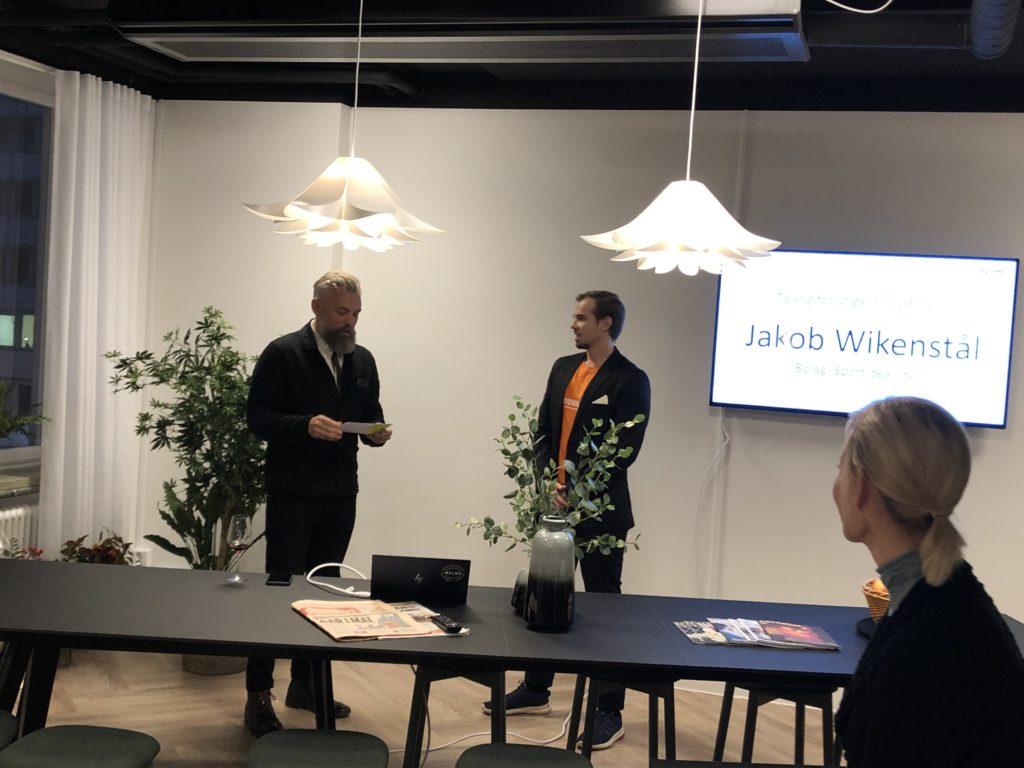 The innovator Jakob Wikenstaal with an innovative idea, Sportidealisten