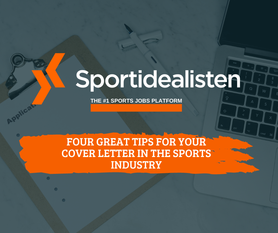 Four great tips for your cover letter in the sports industry